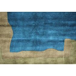 Contemporary Hand-Knotted New Zealand Wool Rug (6' x 9')
