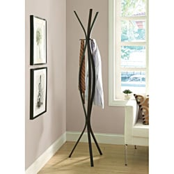 Cappuccino Metal 72-inch Coat Rack