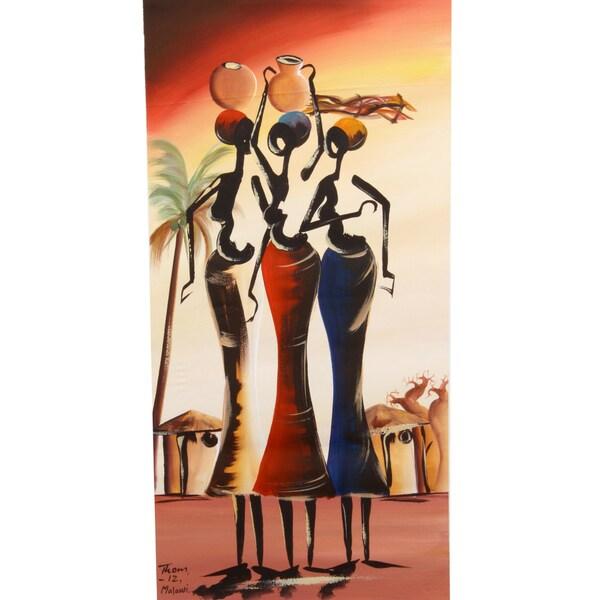 Friend Trio Painting (Malawi)