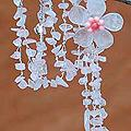Stainless Steel 'Floral Rain' Rose Quartz Y Necklace (Thailand)