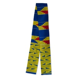Cotton and Rayon 'Ashanti Stairway' Kente Cloth Scarf (Ghana)