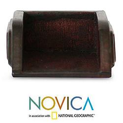 Handcrafted Leather 'Complimentary' Business Card Holder (Ghana)