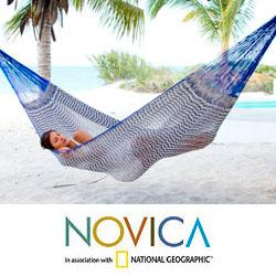 Cotton 'Ocean Waves' Single Hammock (Mexico)