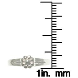 CGC Sterling Silver Spring Flower Toe Ring