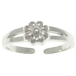 Carolina Glamour Collection Sterling Silver Spring Flower Toe Ring
