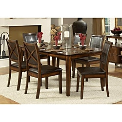 Frisco Bay Burnished Oak Transitional 7-piece Dining Set