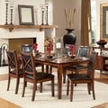 Tribecca Home Frisco Bay Burnished Oak Transitional 7-piece Dining Set