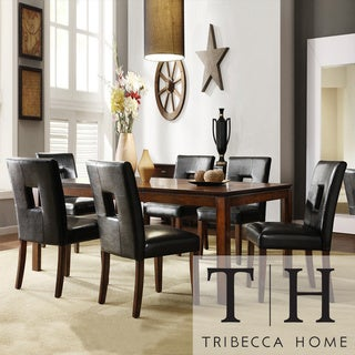 Tribecca Home Portman 7-Piece Cherry-Finished Poplar