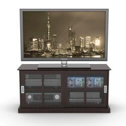 Windowpane Espresso TV Stand
