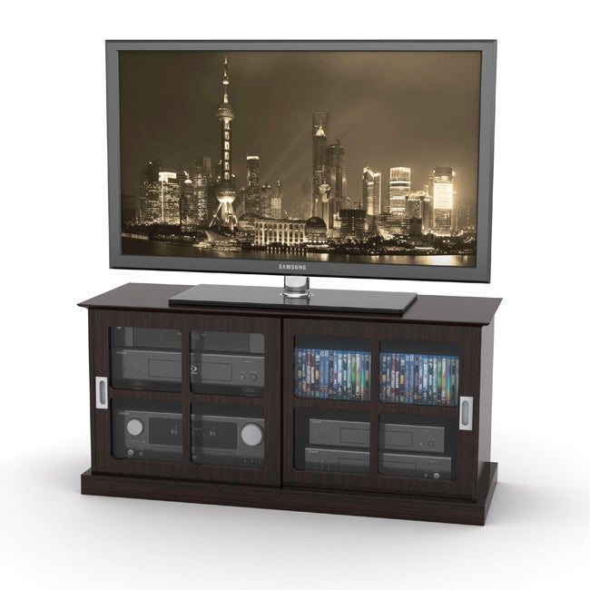 DarLiving Windowpane Espresso TV Stand for up to 52 inch TVs