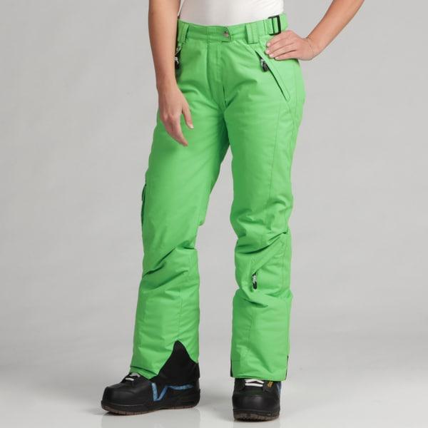 Marker Women's Grasshopper Green Ski Pants