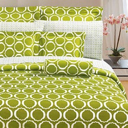 Green Scroll 3-piece Comforter Set