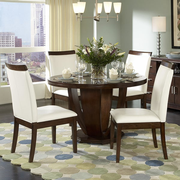 Lancester 5pcs Dining Set with Wood Rail Chair Back