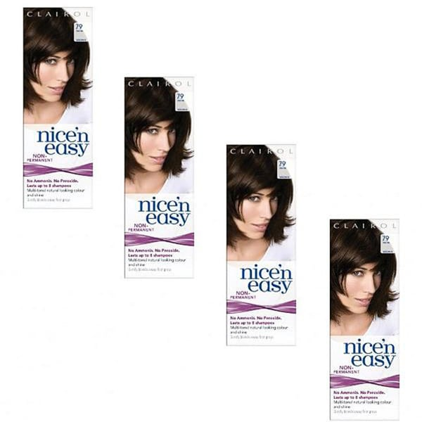 Clairol Nice 'n Easy #79 Dark Brown Hair Color (Pack of 4)