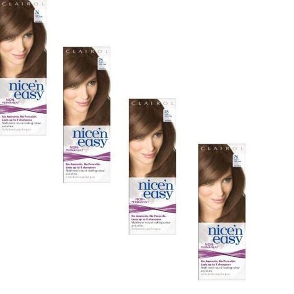 Clairol Nice 'n Easy #76 Light Golden Brown Hair Color (Pack of 4)