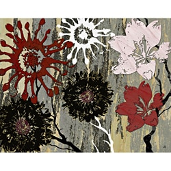 Ankan 'Graphic Flowers 1' Gallery-wrapped Canvas Art