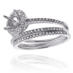 14k Gold 3/8ct TDW Semi-mount Diamond Engagement Ring (G-H, SI1-SI2)