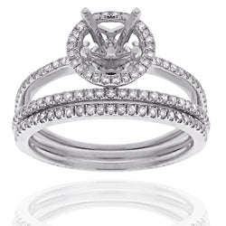 14k Gold 3/8ct TDW Semi-mount Diamond Engagement Ring (G-H, SI1-SI2)
