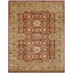 Handmade Persian Legend Red/Ivory Wool Area Rug (6' x 9')