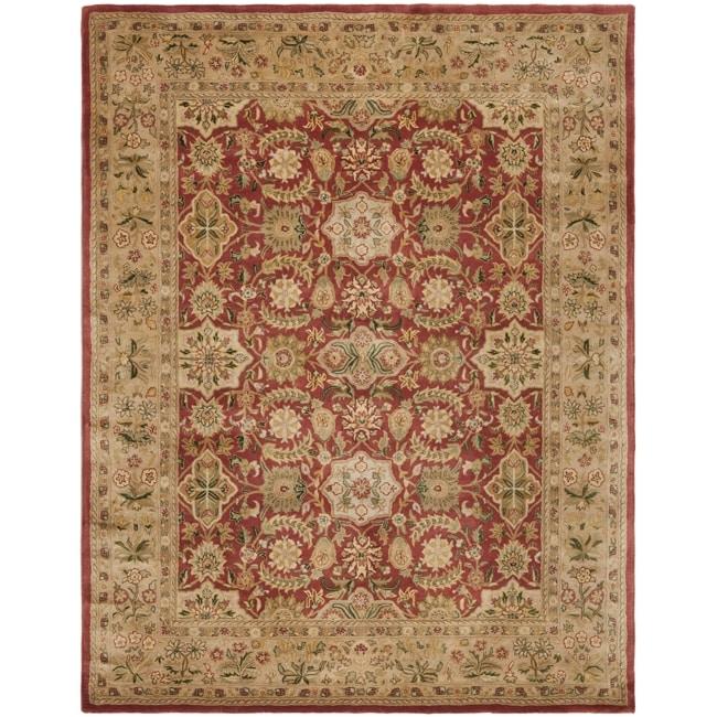 "Safavieh Handmade Persian Legend Red/Ivory Wool Area Rug (7'6"" x 9'6"")"