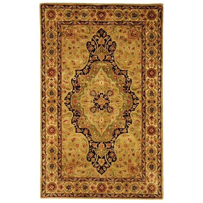 Safavieh Handmade Persian Legend Soft Green/ Ivory Wool Rug (6' x 9')