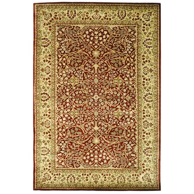 Safavieh Handmade Persian Legend Rust/ Beige Wool Rug (6' x 9')