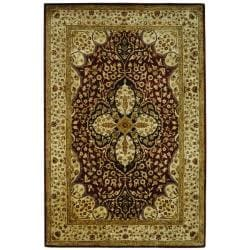 Handmade Persian Legend Red/ Beige Wool Rug (6' x 9')