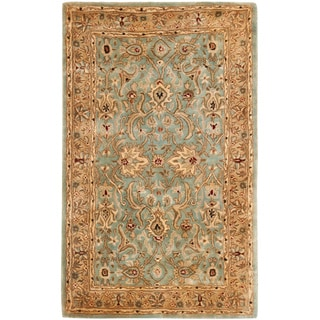 Handmade Persian Legend Blue/ Gold Wool Rug (4' x 6')