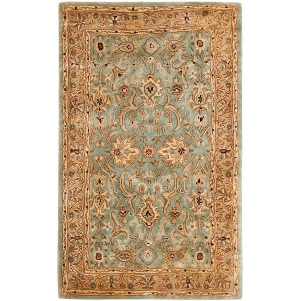 Safavieh Handmade Persian Legend Blue/ Gold Wool Rug (6' x 9')