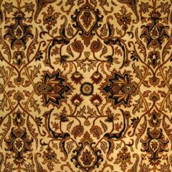 Safavieh Handmade Persian Legend Ivory/ Black Wool Rug (6' x 9')