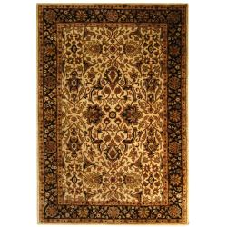 Safavieh Handmade Persian Legend Ivory/ Black Wool Rug (6' x 9')