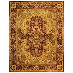 Handmade Persian Legend Burgundy Wool Rug (6' x 9')