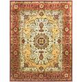 Traditional Handmade Persian Legend Ivory/Rust Wool Rug (6' x 9')