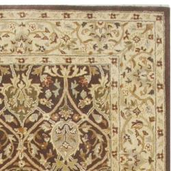 Safavieh Handmade Persian Legend Brown/ Beige Wool Rug (5' x 8')