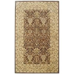 Handmade Persian Legend Brown/ Beige Wool Rug (5' x 8')