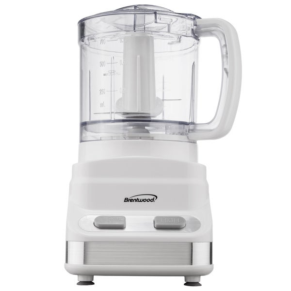 Brentwood Three Cup White Food Processor