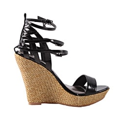 Playboy by Beston Women's 'Wessline' Black Wedge Sandals