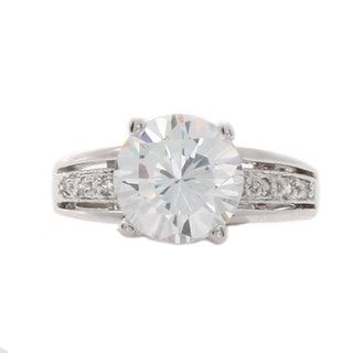 Nexte Jewelry Solitaire with Side Accent Stones Ring
