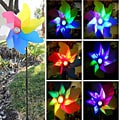 Solar Garden Windmill Spinner Color Changing Light
