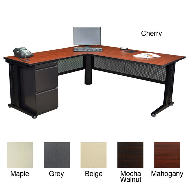 Regency Seating Fusion 72 Inch Single Pedestal L Desk With