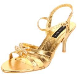 Celeste Women's 'Mari-05' Gold Ankle Strap Heels