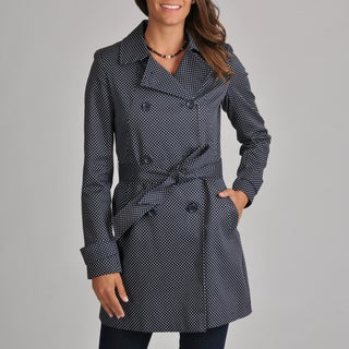 Tommy Hilfiger Women's Petite Dot Trench Coat