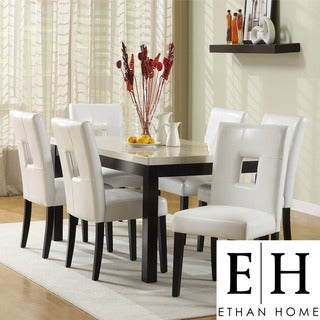 ETHAN HOME Mendoza White 7 Piece Modern Casual Dining Set