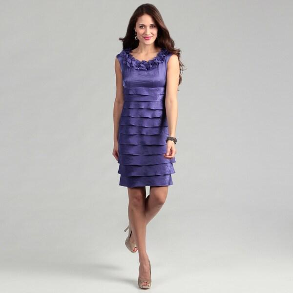 London Times Women's 'Shimmer' Concord Dress