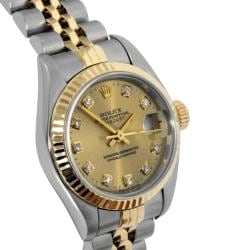 Pre-Owned Rolex Women's 18-Karat Two-Tone Datejust Watch with Stainless-Steel Folding Clasp