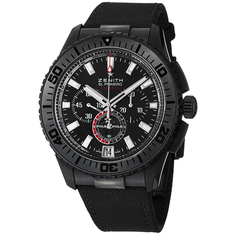 Zenith Men's 24.2062.405/27.C707 'El Primeo Stratos' Black Dial Chronograph Watch