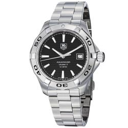 Tag Heuer Men's WAP2010.BA0830 'Aquaracer 5' Black Dial Stainless Steel Watch