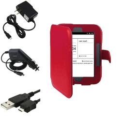 Leather Case/ Chargers/ Cable for Barnes & Noble Nook Simple Touch