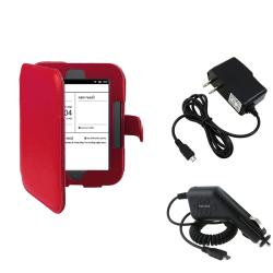 Leather Case/ Travel/ Car Charger for Barnes & Noble Nook Simple Touch