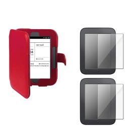 INSTEN Leather Phone Case Cover/ Scratch Resistant Screen Protector for Barnes & Noble Nook Simple Touch